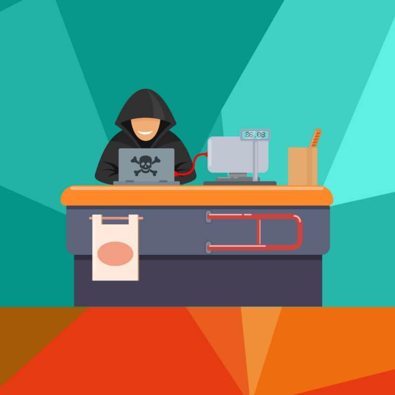 hacker casse supermercato